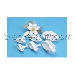 View the ALL 3 sizes LILY plunger icing cutter - 6 pc set online at Cake Stuff
