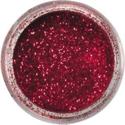 View the CHERRY RED JEWEL sparkle food contact glitter 5g online at Cake Stuff