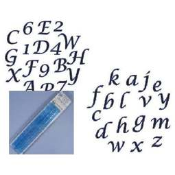 View the Script Alphabet & Number (upper & lower case) Tappit icing cutter sets online at Cake Stuff