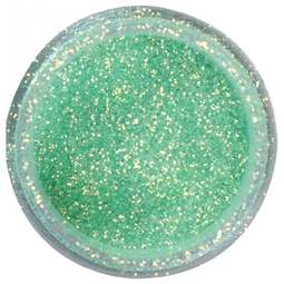 View the **CLEARANCE** TURQUOISE CRYSTAL sparkle food contact glitter 5g online at Cake Stuff