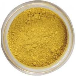 View the MUSTARD Yellow Powder Colour 100% edible dust icing colouring 4g online at Cake Stuff
