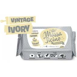 View the 250g VINTAGE IVORY sugarpaste ready to roll fondant icing online at Cake Stuff