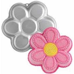 View the Dancing Daisy hippy flower cake tin / pan online at Cake Stuff