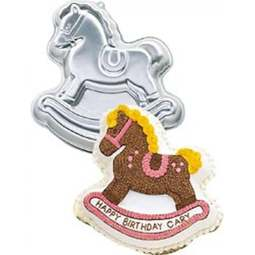 View the Rocking Horse novelty cake tin / pan online at Cake Stuff