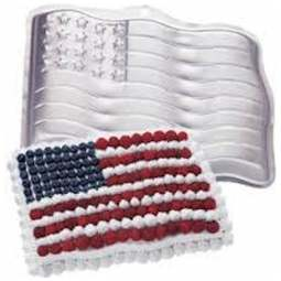 View the **CLEARANCE** Stars & Stripes ANY FLAG cake tin / pan online at Cake Stuff