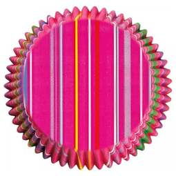 View the SNAPPY STRIPES cupcake baking cases - pk 75 online at Cake Stuff