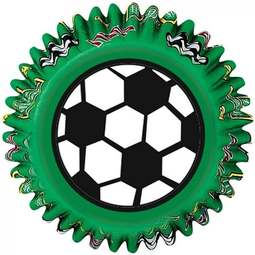 View the SOCCER / FOOTBALL cupcake baking cases - pk 50 online at Cake Stuff