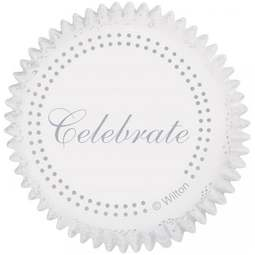View the SILVER CELEBRATE cupcake baking cases - pk 75 online at Cake Stuff