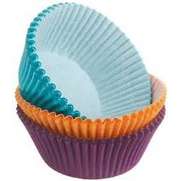 View the ASSORTED JEWEL COLOURS cupcake baking cases - pk 75 online at Cake Stuff