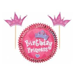 View the PRINCESS cupcake baking cases & picks - pk 24 online at Cake Stuff