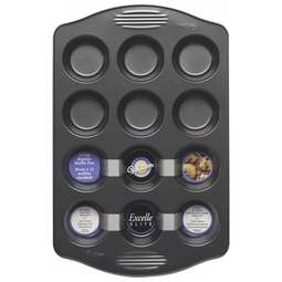 View the Excelle Elite 12 cavity cupcake / muffin baking pan tin online at Cake Stuff