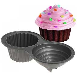 View the 3D Giant Cupcake non stick cake tin / pan online at Cake Stuff