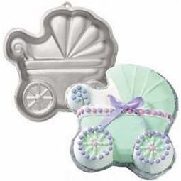 View the Baby Buggy Pram cake tin / pan online at Cake Stuff