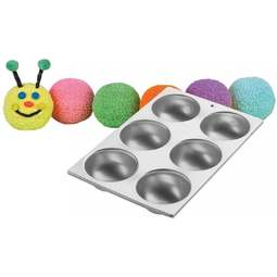 View the Mini Ball 6 cavity cake tin / pan online at Cake Stuff