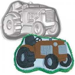 View the Farm Tractor novelty cake tin / pan online at Cake Stuff