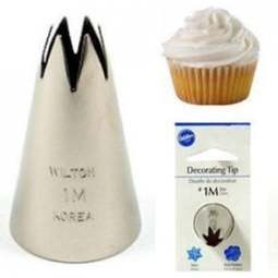 View the 1M large piping nozzle icing tube tip - cupcake swirls online at Cake Stuff