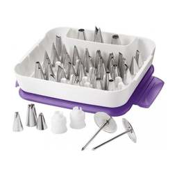 View the *LATEST VERSION* 55 piece Master Tip Set icing nozzle piping tube box online at Cake Stuff