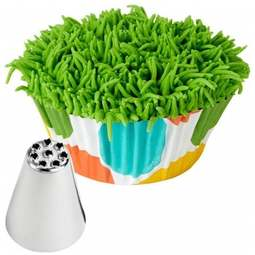 View the 233 piping nozzle icing tube tip - grass / hair multi hole online at Cake Stuff