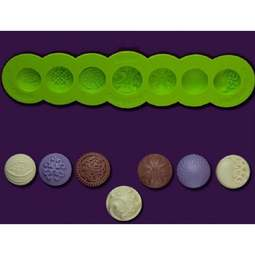 View the Marina Sousa FILIGREE BUTTONS silicone icing mould set online at Cake Stuff