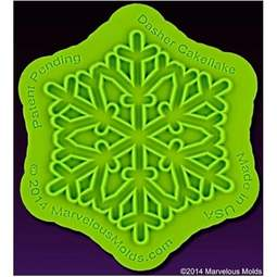 View the Dasher Cakeflake snowflake silicone sugarcraft icing mould online at Cake Stuff