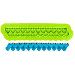 View the RUFFLE BORDER silicone icing mould set online at Cake Stuff