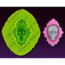 View the Elisa Strauss SKULL CAMEO silicone icing mould set online at Cake Stuff