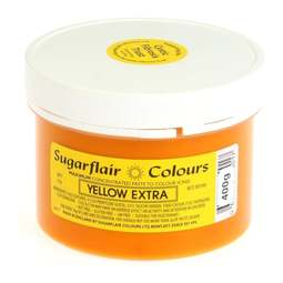 View the YELLOW EXTRA max concentrated icing paste colouring BULK 400g online at Cake Stuff