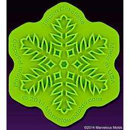 View the Blitzen Cakeflake snowflake silicone sugarcraft icing mould online at Cake Stuff