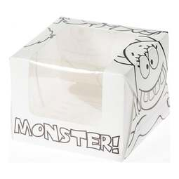 View the **CLEARANCE** 25 MONSTERS colour in cupcake boxes & inserts - hold 1 online at Cake Stuff