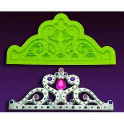 View the LARGE Majestic Tiara silicone icing mould online at Cake Stuff