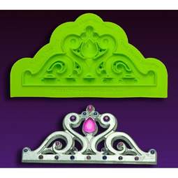 View the MINI Majestic Tiara silicone icing mould online at Cake Stuff