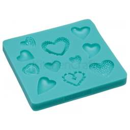 View the 11 HEARTS silicone icing mould online at Cake Stuff