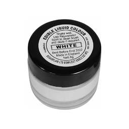 View the WHITE edible metallic liquid icing colouring paint online at Cake Stuff