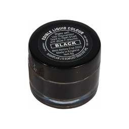 View the BLACK edible metallic liquid icing colouring paint online at Cake Stuff