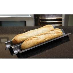 View the Crusty Bake BAGUETTE crisping & baking tray online at Cake Stuff