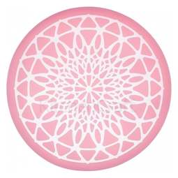 View the GEOMETRIC LACE CIRCLE silicone edible lace icing mat online at Cake Stuff