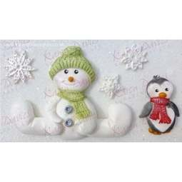 View the SITTING SNOWMAN silicone icing mould online at Cake Stuff