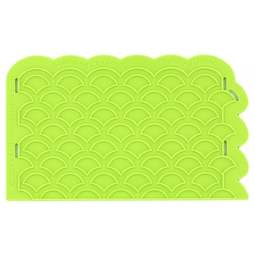 View the Scalloped Lattice Onlay silicone sugarcraft icing mould online at Cake Stuff