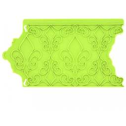 View the Fleur De Lis Onlay silicone sugarcraft icing mould online at Cake Stuff