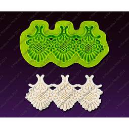 View the COLETTE LACE silicone icing mould set online at Cake Stuff