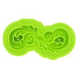 View the FLOURISH SWIRL S - CURVE silicone icing mould set online at Cake Stuff