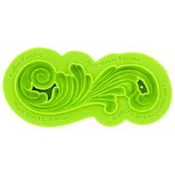 View the RIGHT SCROLL ENSEMBLE silicone icing mould online at Cake Stuff
