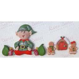 View the SITTING ELF silicone icing mould online at Cake Stuff