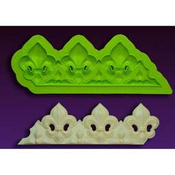 View the Fleur De Lis BORDER silicone sugarcraft icing mould online at Cake Stuff