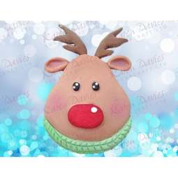 View the RUDOLPH Cupcake Top by Alice - silicone icing mould online at Cake Stuff