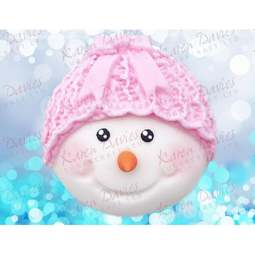 View the SNOWMAN HEAD 1 - Bow - silicone icing mould online at Cake Stuff