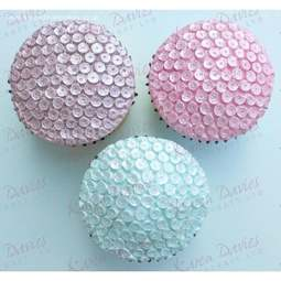 View the SEQUINS cupcake top silicone icing mould online at Cake Stuff