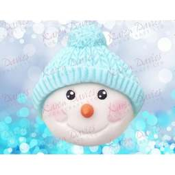 View the SNOWMAN HEAD 2 - Bobble - silicone icing mould online at Cake Stuff