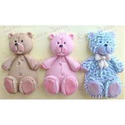 View the 6cm Teddy bear silicone icing sugarcraft mould online at Cake Stuff