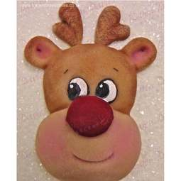 View the LARGE REINDEER HEAD silicone icing mould online at Cake Stuff